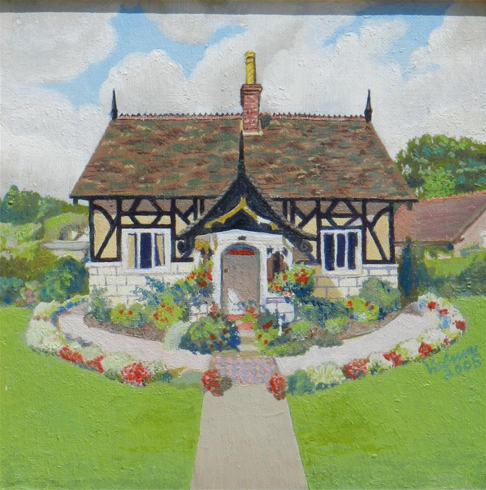 """English Cottage 3"" original fine art by Velma Davies"