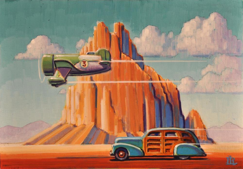 """""""Desert Travelers"""" original fine art by Robert LaDuke"""