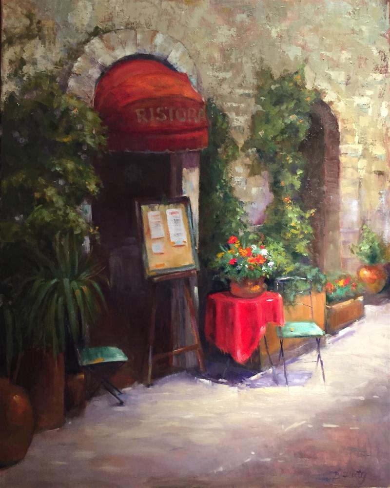 """Romantic Ristoranta"" original fine art by Barbara Fluty"