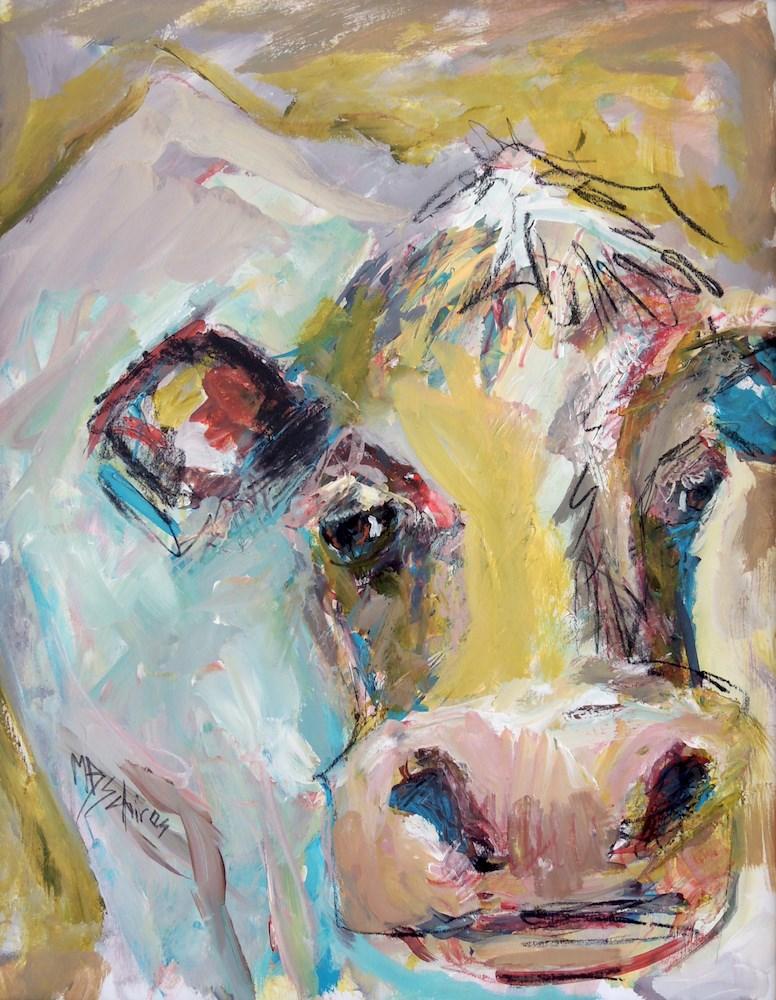 """""""Butter Queen"""" original fine art by Mary Schiros"""