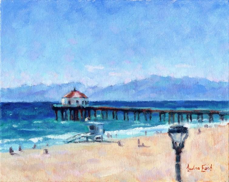 """""""Manhattan Beach"""" original fine art by Audra Esch"""