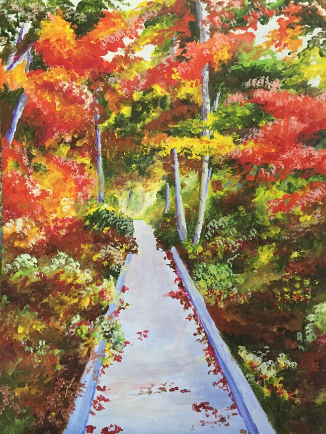 """Straight & Narrow"" original fine art by Nan Johnson"