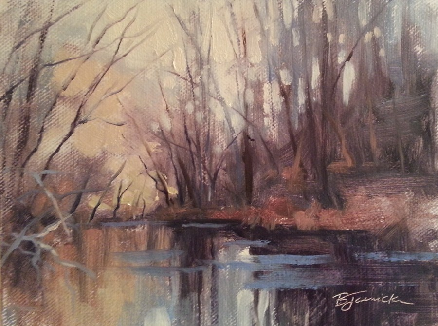 """Over the River and Through the Woods"" original fine art by Barbara Jaenicke"