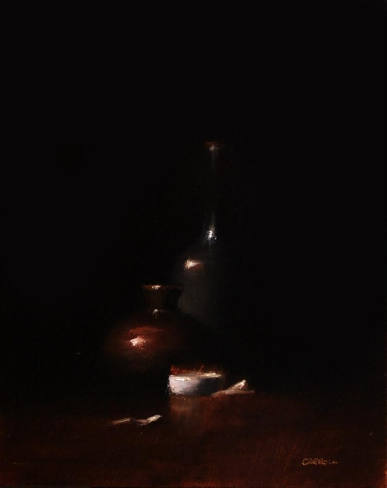 """Dark Corner"" original fine art by Neil Carroll"