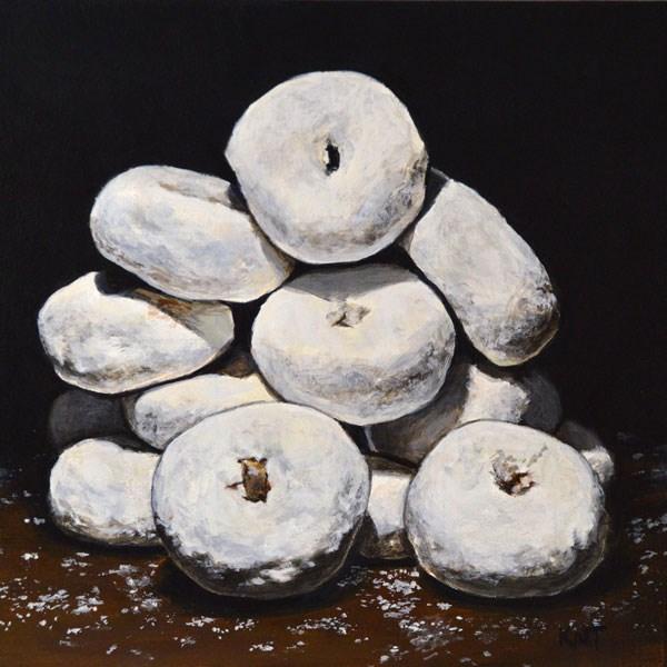 """Powdered Sugar Donut Shrine 2"" original fine art by Kim Testone"