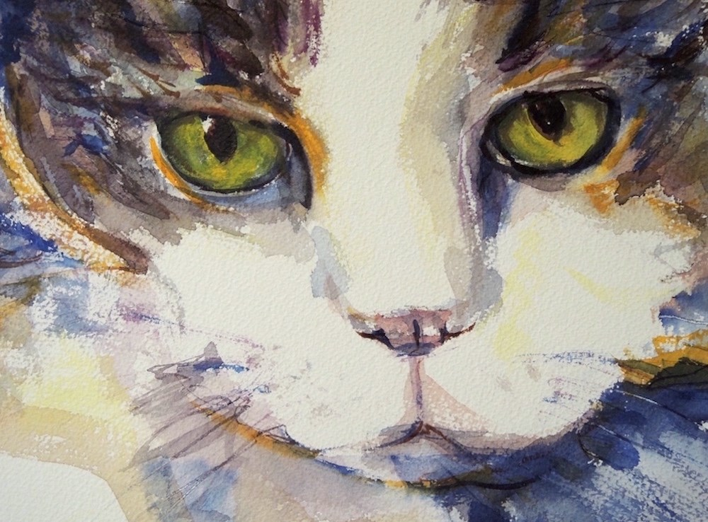 """The Look"" original fine art by Mary Schiros"