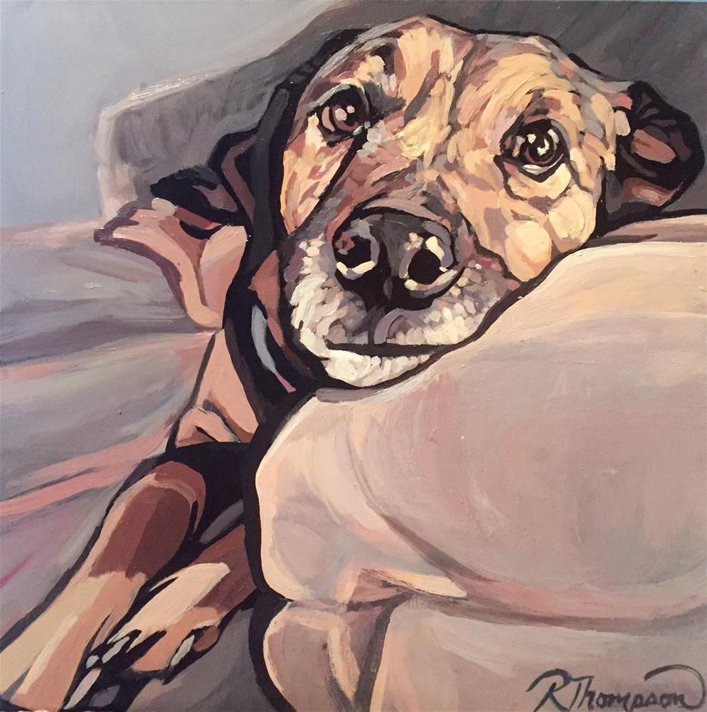 """Corky II"" original fine art by Rachel Thompson"