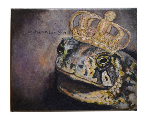 """A Toad's Fantasy"" original fine art by Heather Sims"