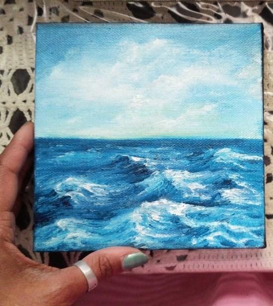 """Waves"" original fine art by Camille Morgan"