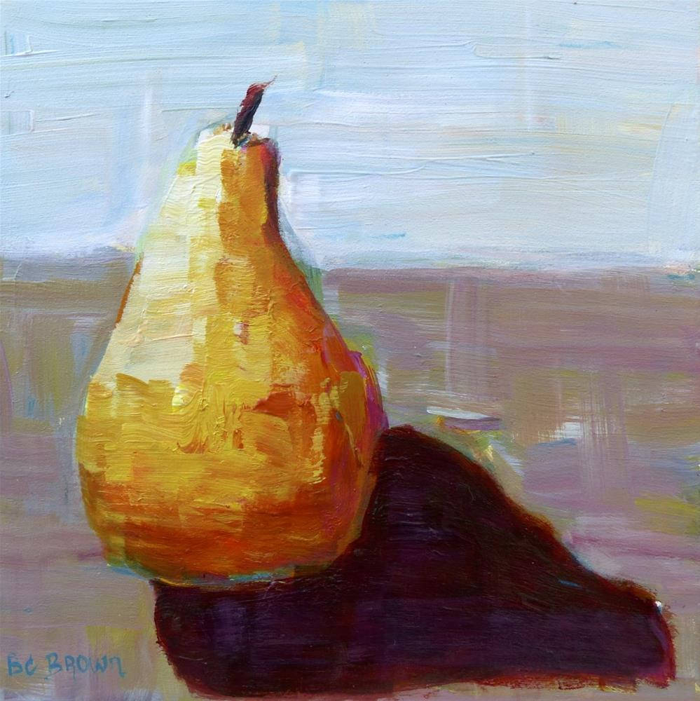 """Calming pear still life"" original fine art by Beth Carrington Brown"