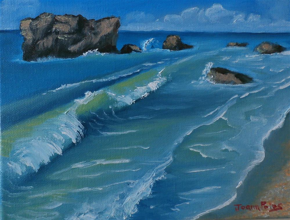 """summer waves"" original fine art by Joann Polos"