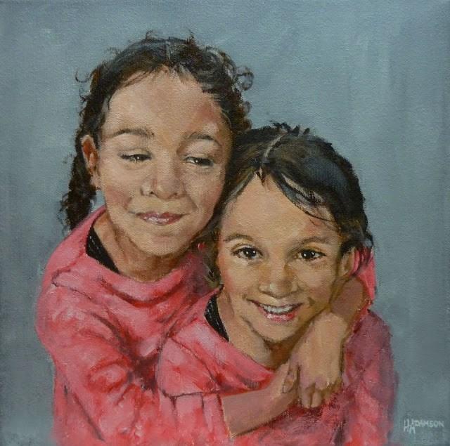 """Sisters"" original fine art by Helene Adamson"
