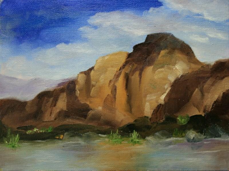 """""""Deschutes River"""" original fine art by Jean Nelson"""
