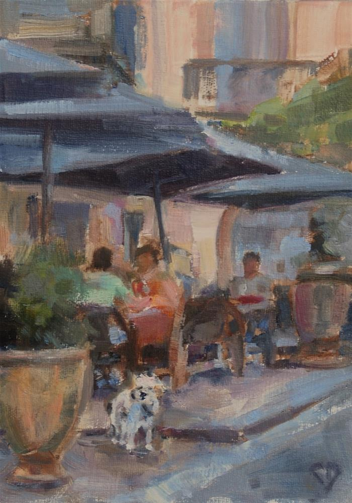 """Cafe Painting Original Oil By Carol DeMumbrum"" original fine art by Carol DeMumbrum"