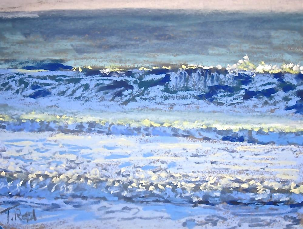 """Back Light Waves"" original fine art by Toby Reid"