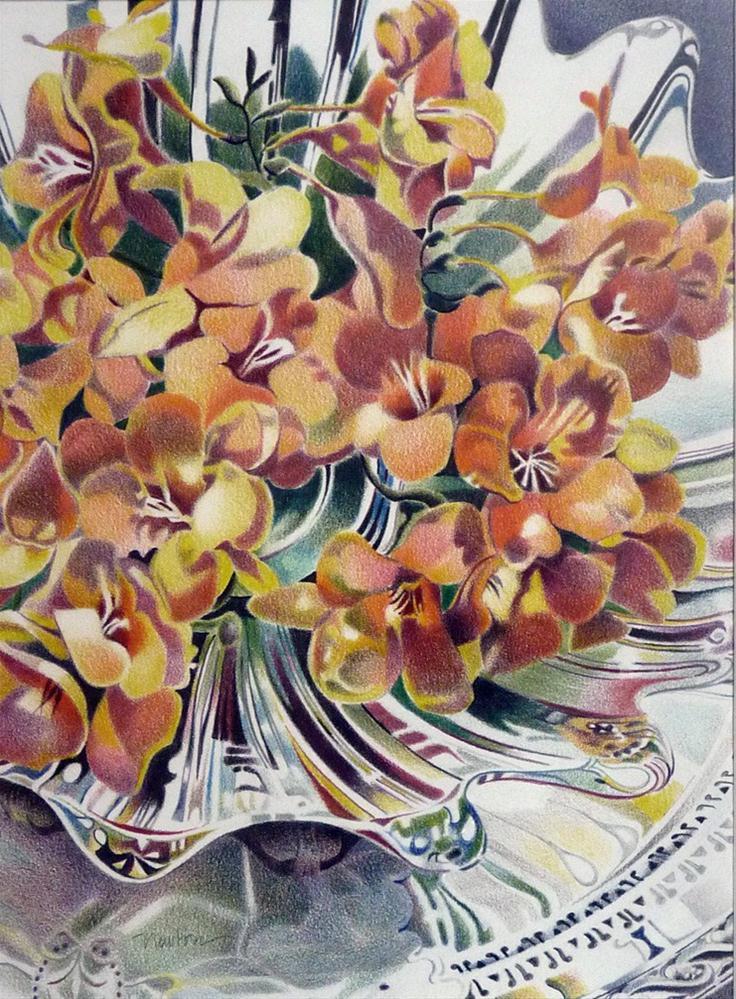 """Freesias"" original fine art by Barbara Benedetti Newton"