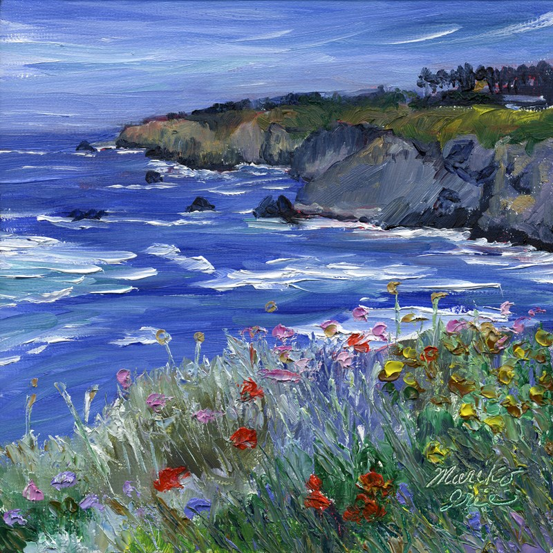 """Wildflowers at Navarro"" original fine art by Mariko Irie"