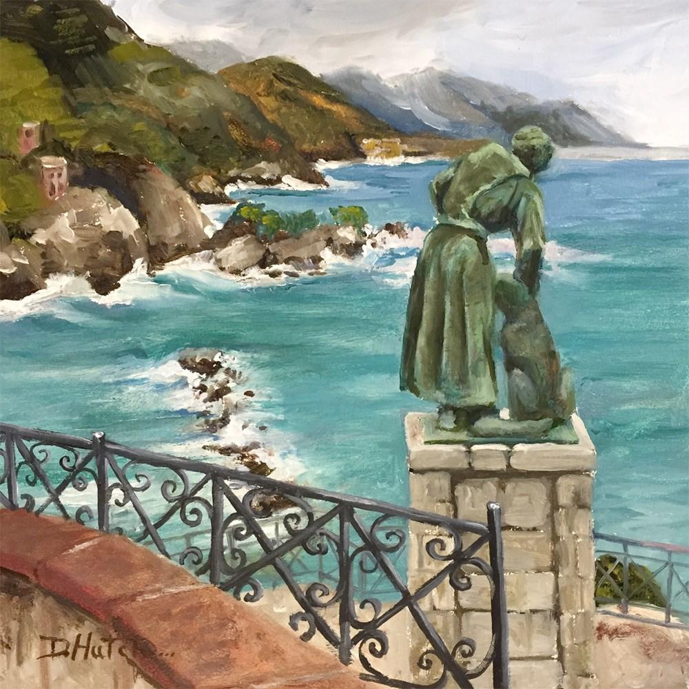 """St Frances and His Dog"" original fine art by Diane Hutchinson"
