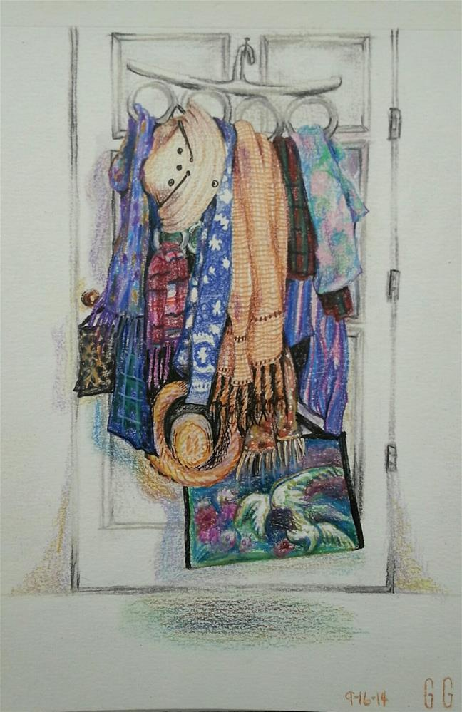 """It's All About the Accessories"" original fine art by Geri Graley"