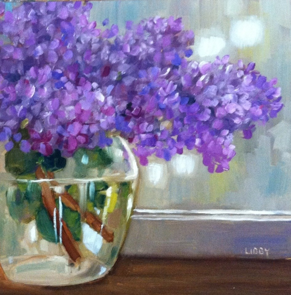 """Cut Lilacs"" original fine art by Libby Anderson"