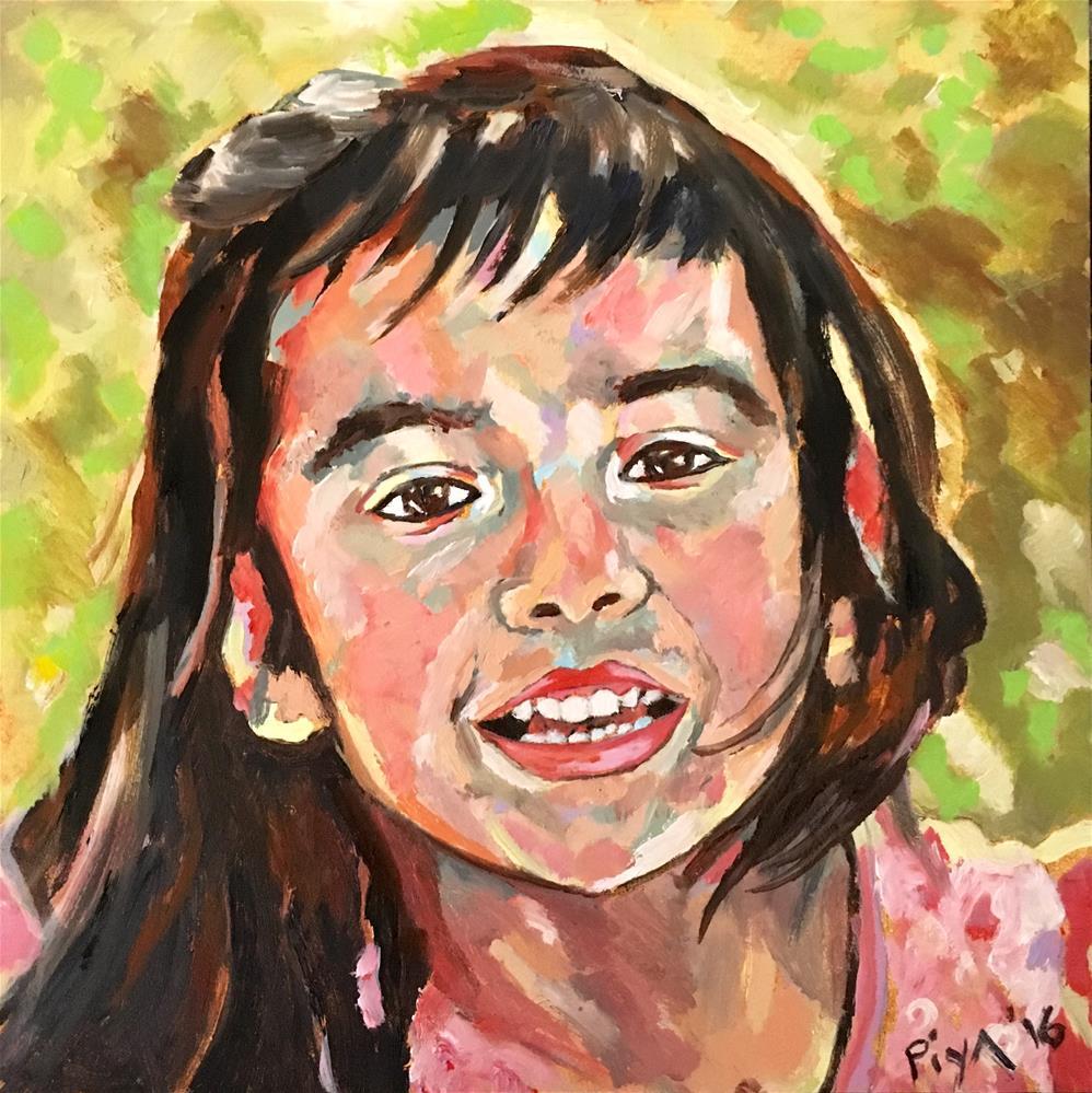 """""""Evelyn"""" original fine art by Piya Samant"""