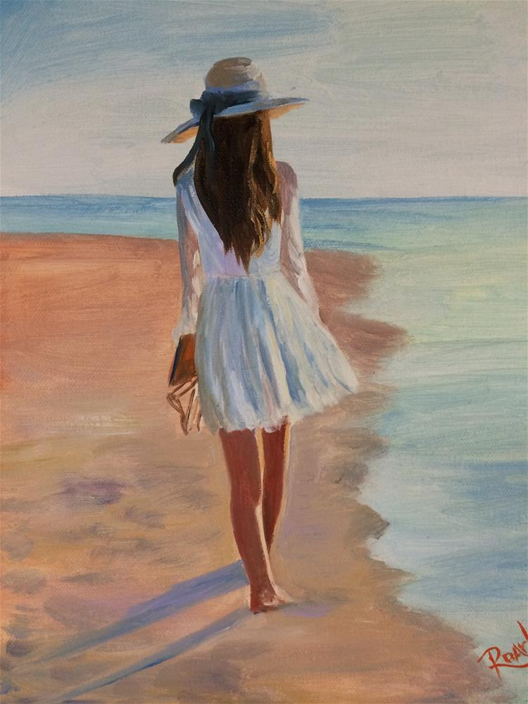 """Morning Walk"" original fine art by Carol Roark"