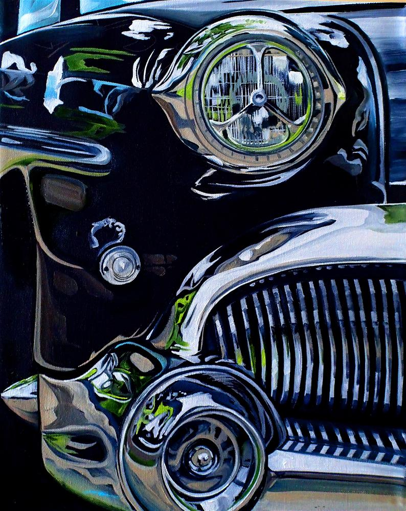 """""""'53 Buick"""" original fine art by Lauren Kuhn"""