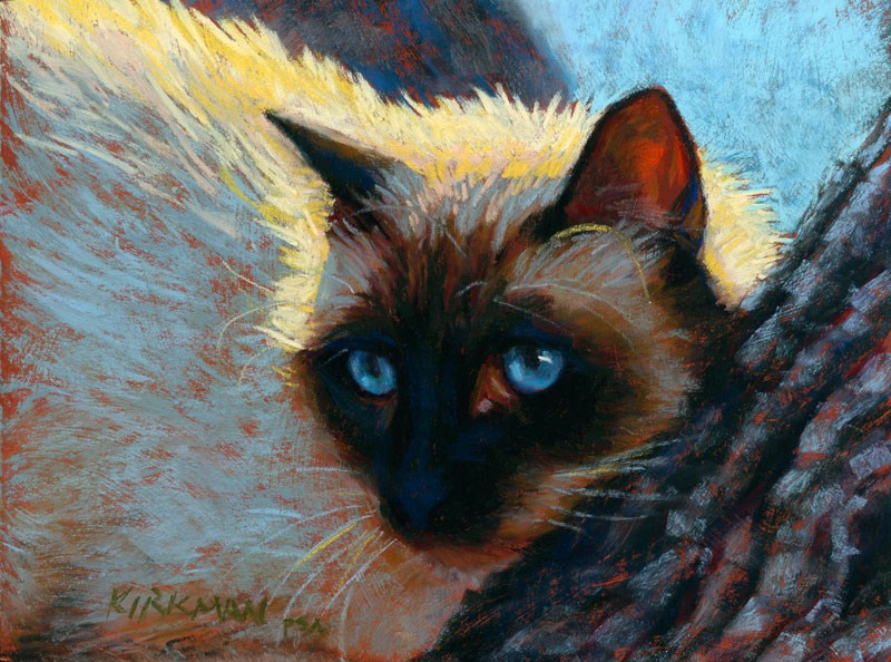 """BlueEyes (and New Life By Cropping)"" original fine art by Rita Kirkman"