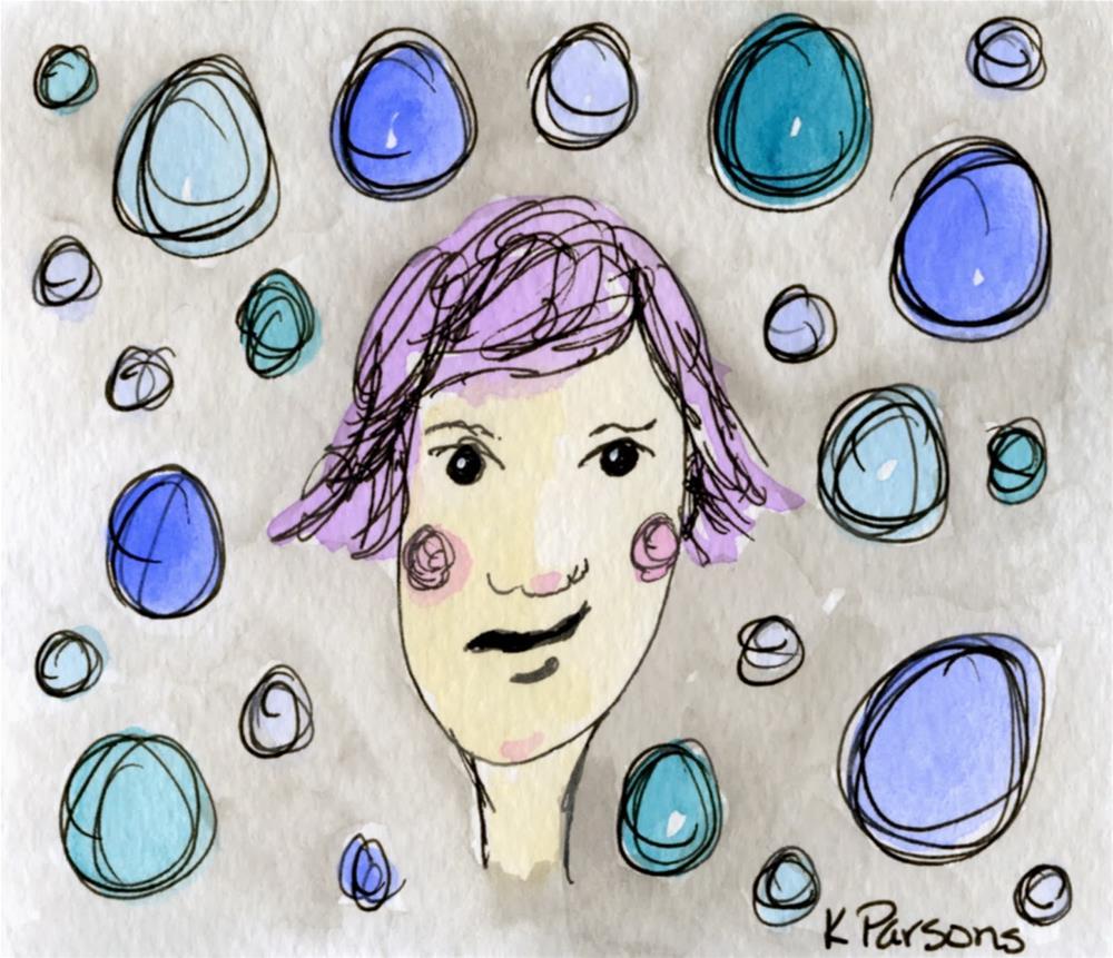 """Feeling not so Bubbly"" original fine art by Kali Parsons"