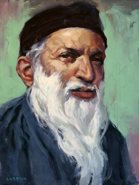 """Abdul Sattar Edhi"" original fine art by John Larriva"