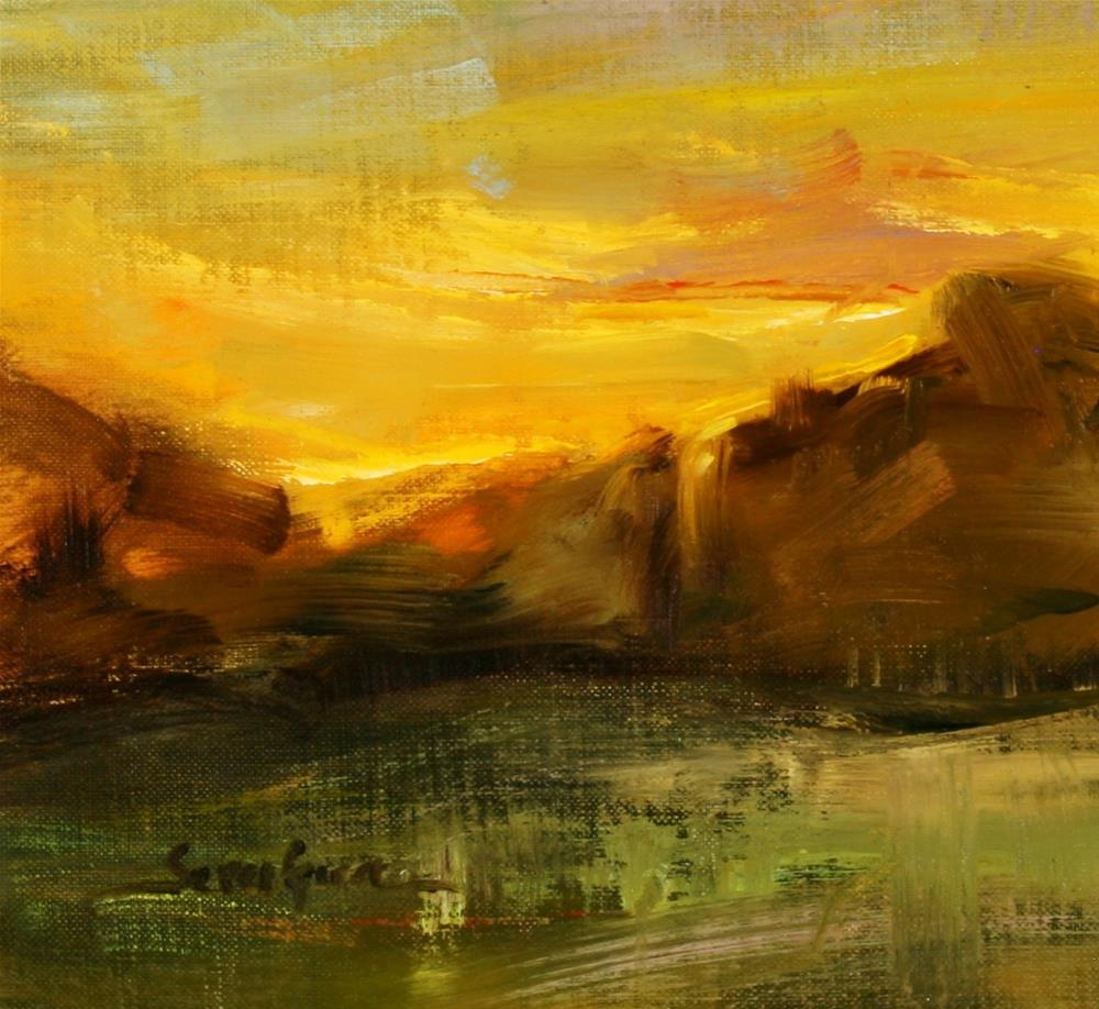 """Sunset Colors"" original fine art by Scott Serafica"