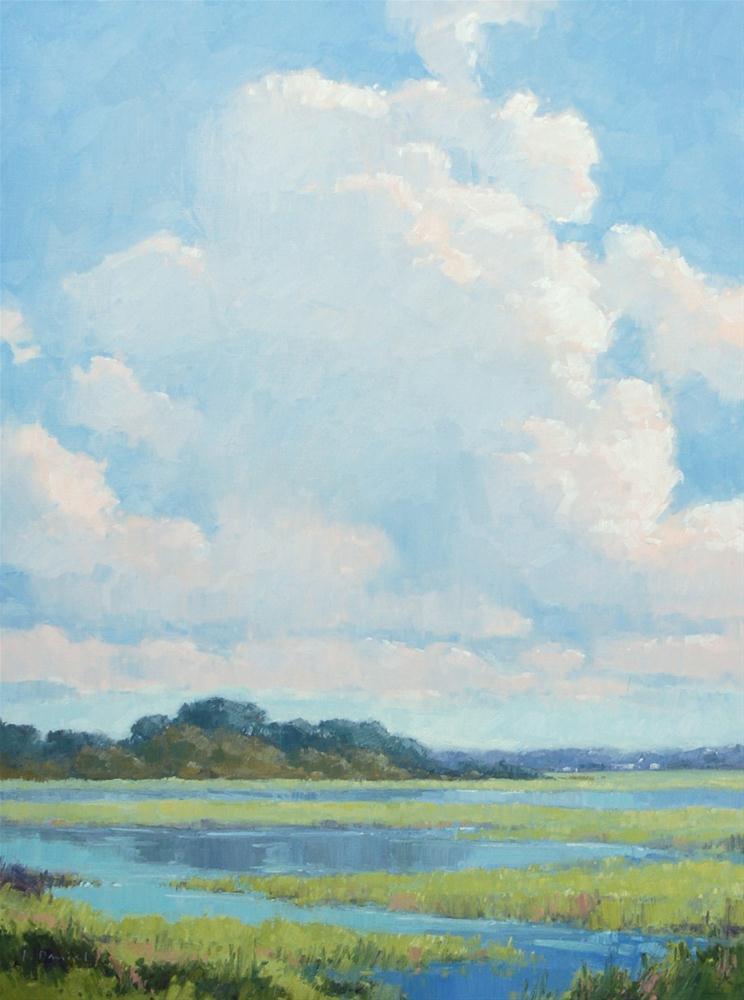 """Glistening Sky"" original fine art by Laurel Daniel"