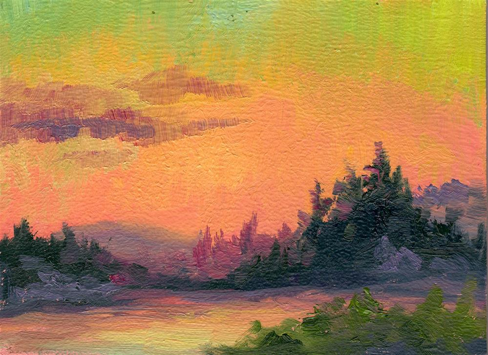 """SUNRISE ATMOSPHERE"" original fine art by Karen E Lewis"