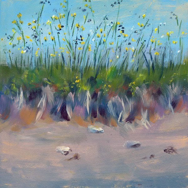 """Beach Grass"" original fine art by Brenda Ferguson"