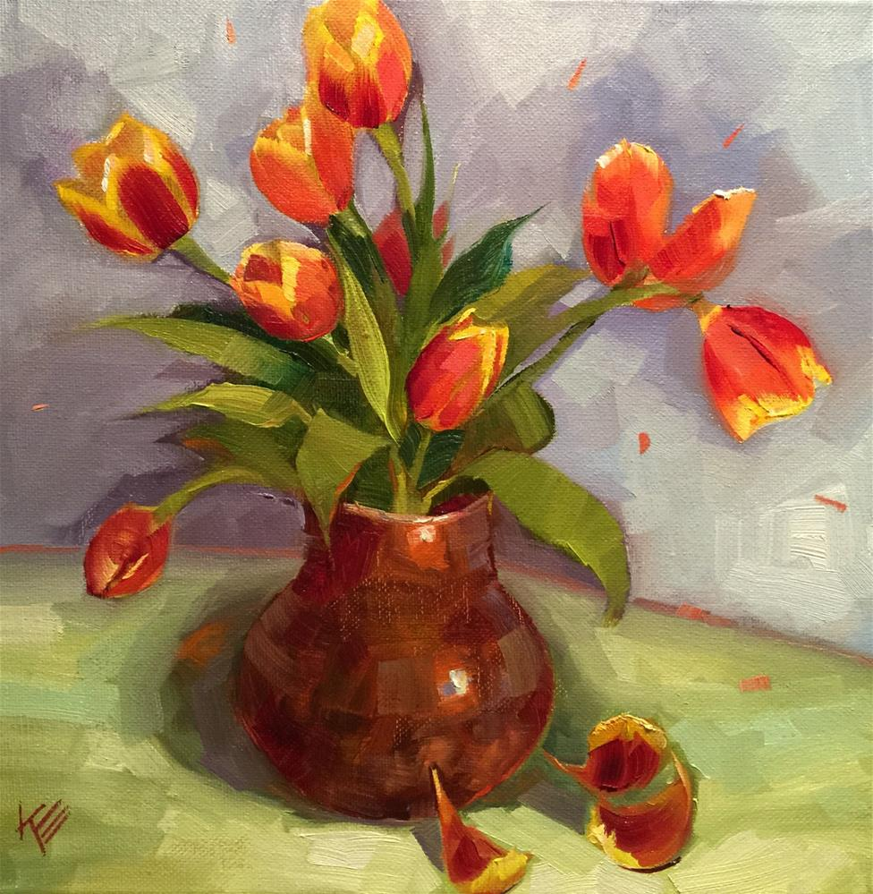 """Tulips still life"" original fine art by Krista Eaton"