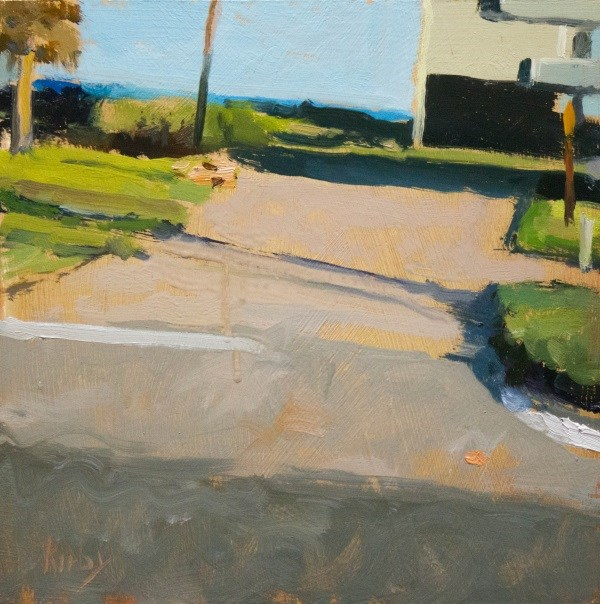 """Beach house Road"" original fine art by Randall Cogburn"
