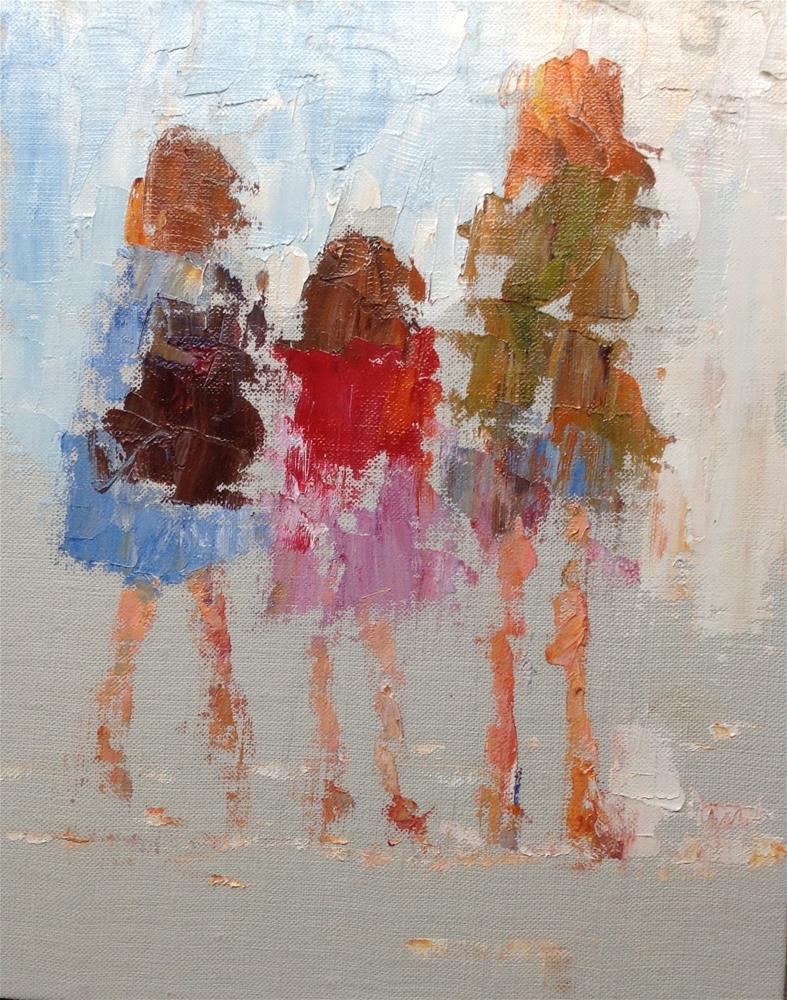 """Girls"" original fine art by Joseph Mahon"