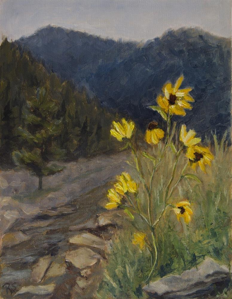"""Yellow Flowers Colorado 2015"" original fine art by Rachel Steely"