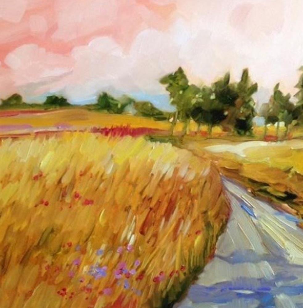 """Harvest Morning"" original fine art by Libby Anderson"