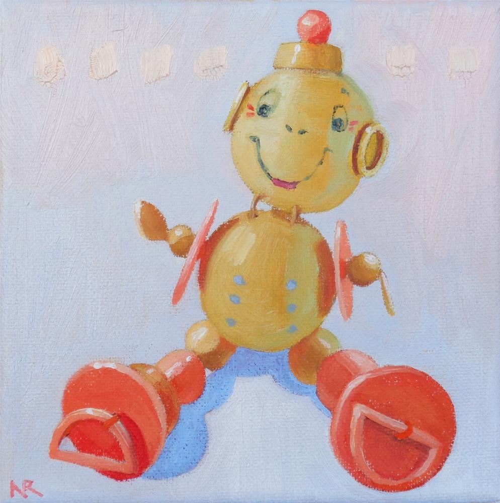 """Bead Buddy"" original fine art by Nancy Roberts"