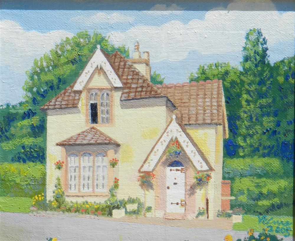 """English Cottage 2"" original fine art by Velma Davies"