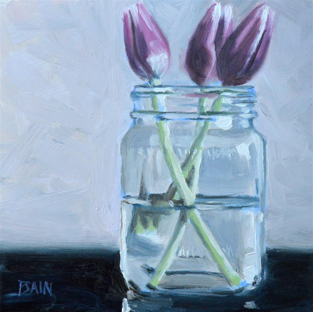 """Tulip Jar"" original fine art by Peter Bain"