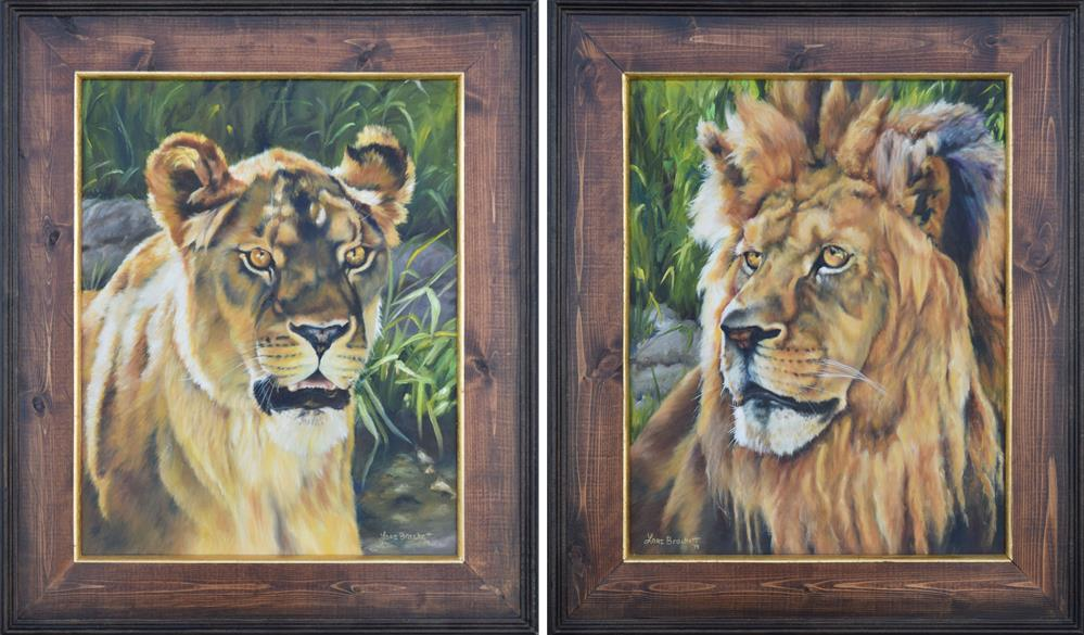 """Her & Him framed set"" original fine art by Lori Brackett"