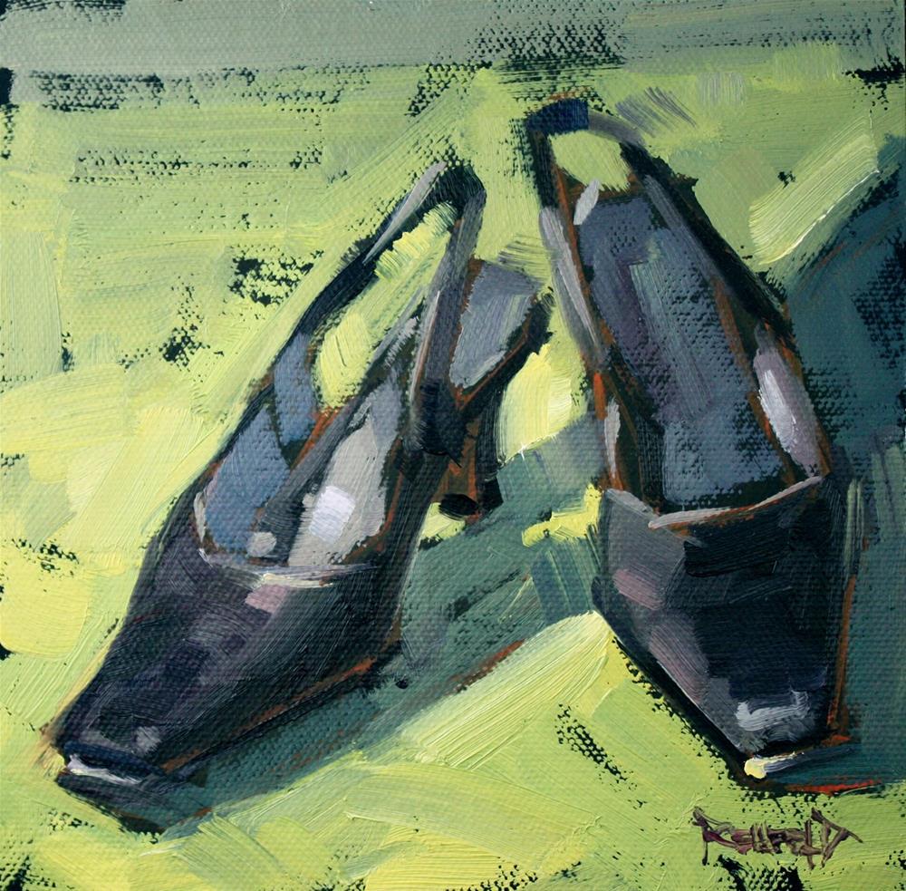 """Shoe Fiend! #3 Elegant"" original fine art by Cathleen Rehfeld"