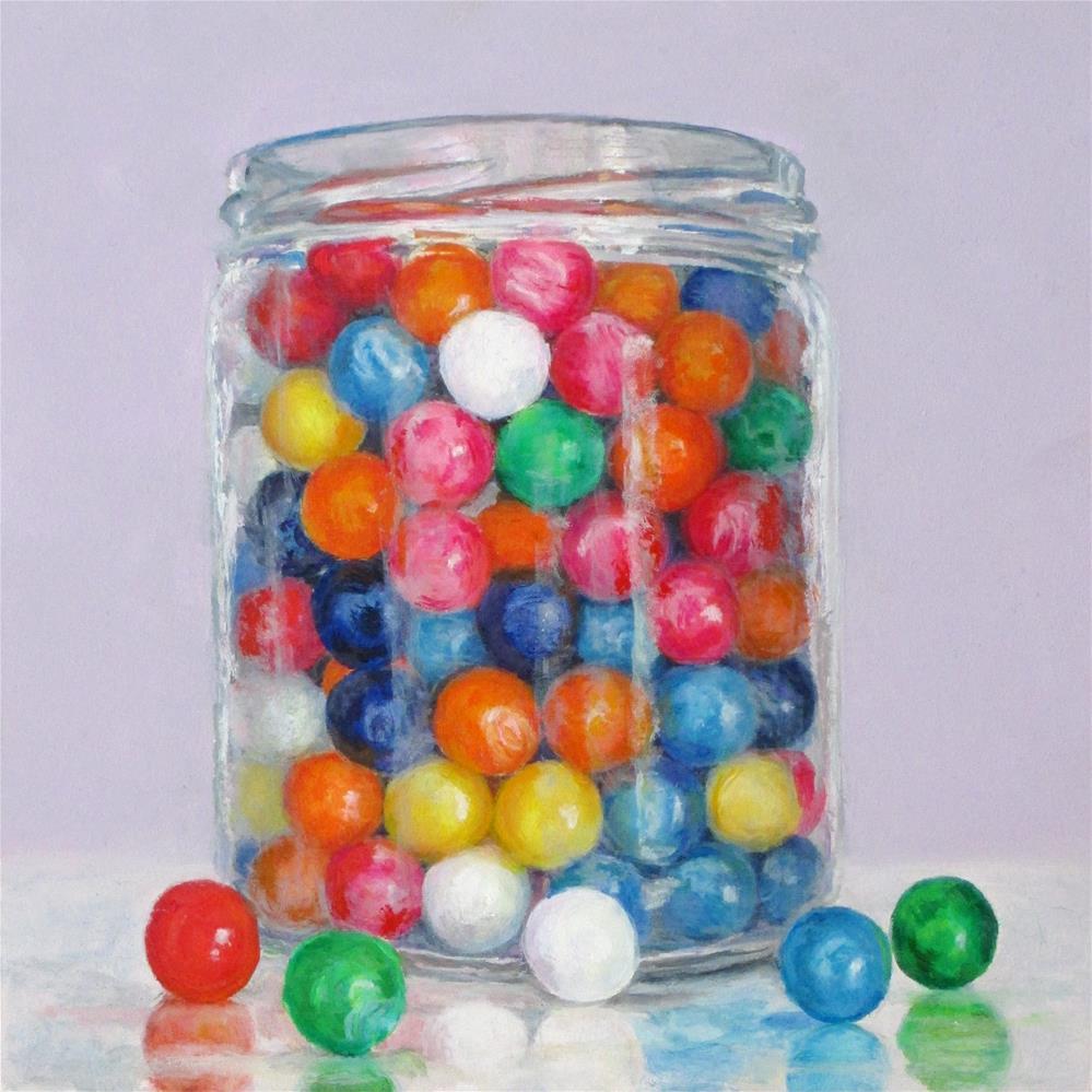 """Gum Balls"" original fine art by Linda Demers"