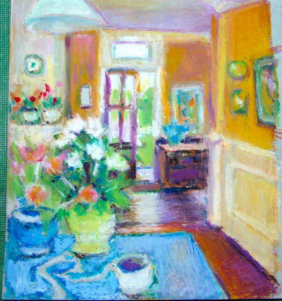 """nancy's kitchen"" original fine art by meribeth coyne"