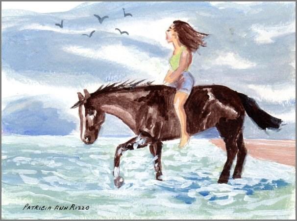 """Summer Vacation"" original fine art by Patricia Ann Rizzo"