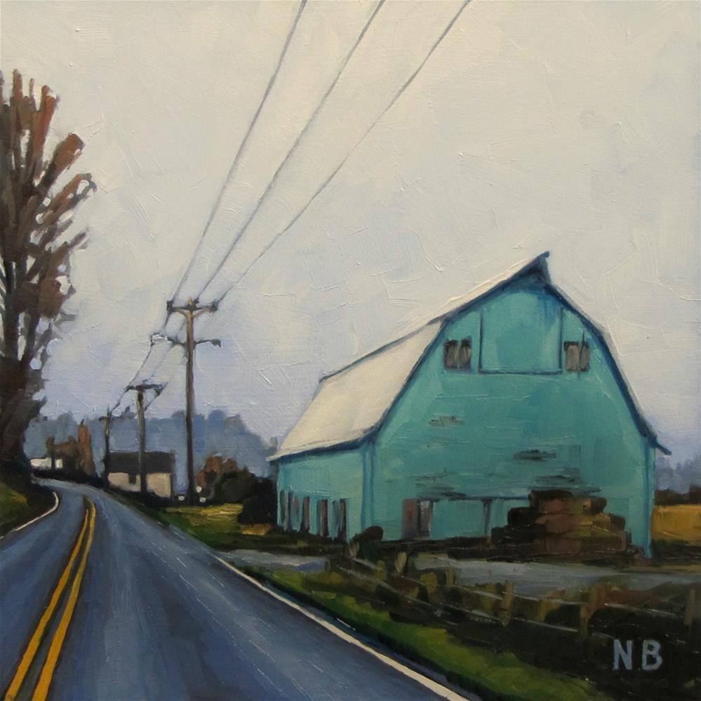"""November Rain"" original fine art by Nora Bergman"