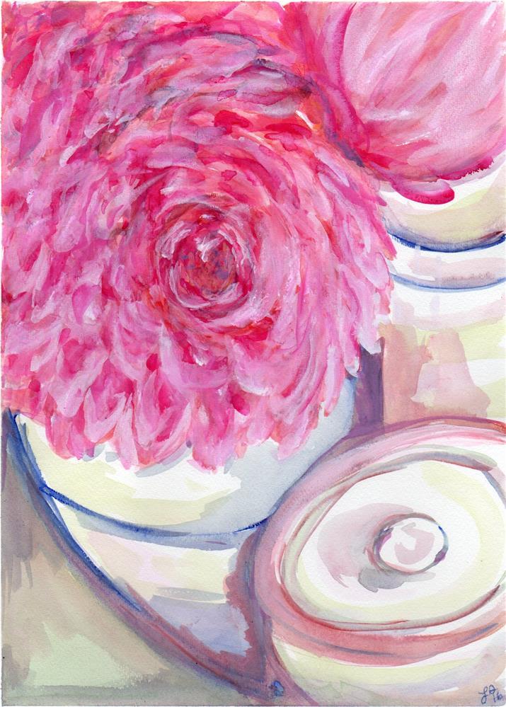 """Peony Practice"" original fine art by Laura Denning"
