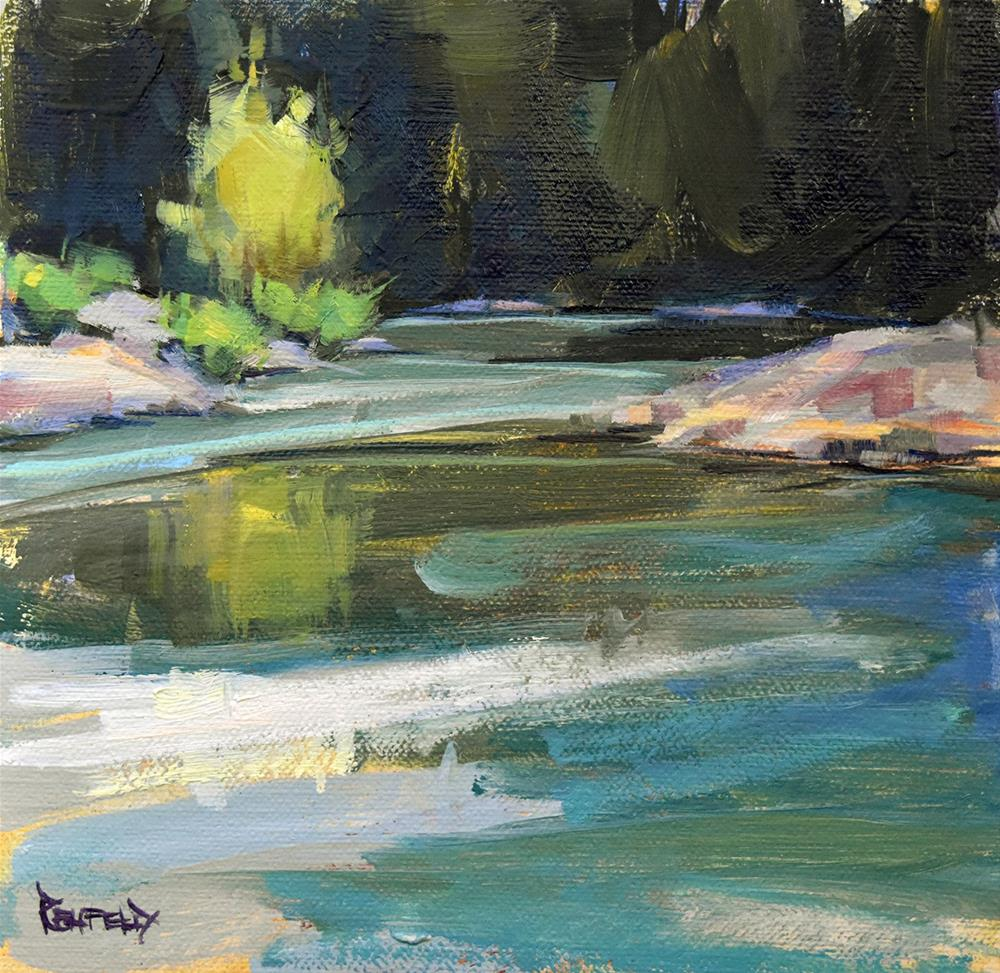 """Tranquil Morning on the Hood River"" original fine art by Cathleen Rehfeld"